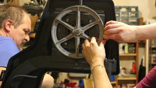 Save money: DIY band saw tire change without any special tools