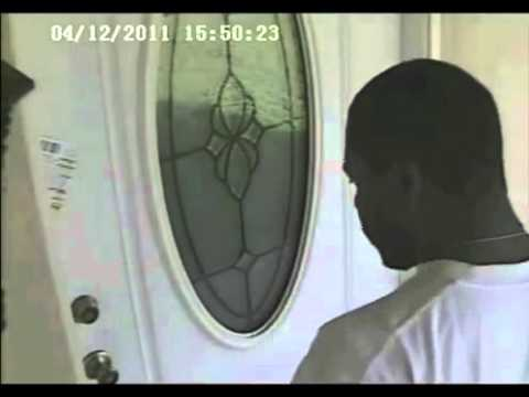 Thieves Kick In Wooden Door To Gain Entry