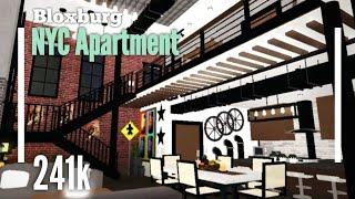 (241K) NYC Loft House Speedbuild - Bloxburg ROBLOX
