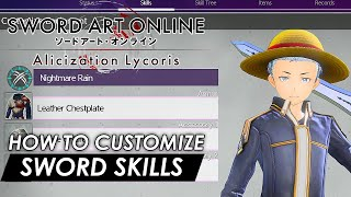Sword Art Online: Alicization Lycoris - Sword Skills Customization Explained (Guide)