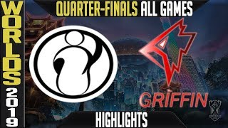 IG vs GRF Highlights ALL GAMES | Worlds 2019 Quarter-finals | Invictus Gaming vs Griffin