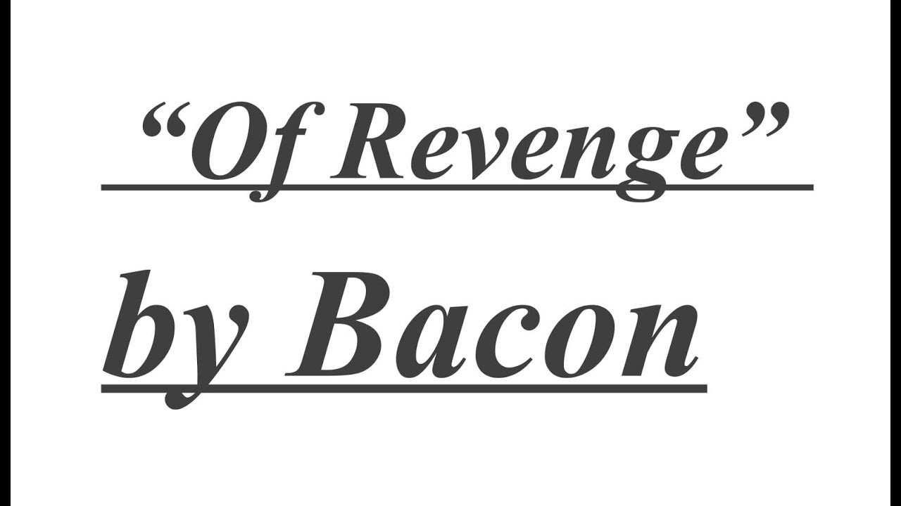 critical analysis of bacons essay of adversity