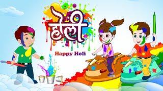 Rangbirangi Holi Song | Hindi Rhymes | JingleToons