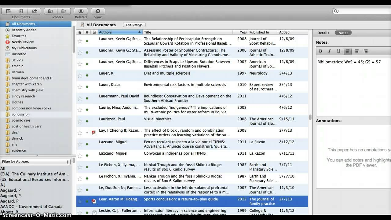 Mendeley bibliography with notes showing - YouTube
