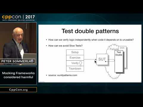 "CppCon 2017: Peter Sommerlad ""Mocking Frameworks considered harmful"""