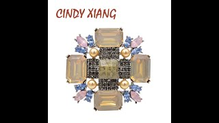 Женская брошь в стиле барокко cindy xiang с серебряным покрытием 2 цвета купить с Aliexpress