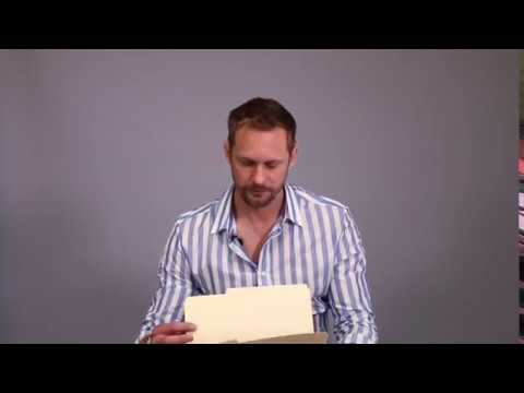 Alexander Skarsgård react on seeing his kid brother Bill as Pennywise.