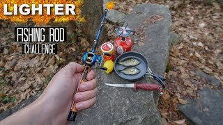 LIGHTER Fishing Rod Challenge! CATCH AND COOK!!