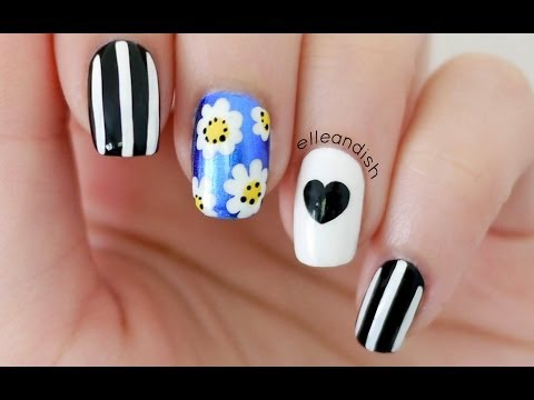 Lazy Daisy Nails (Brandy Melville & Wildfox Inspired)