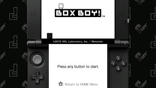 BOXBOY! - 25 Minute Playthrough [3DS]