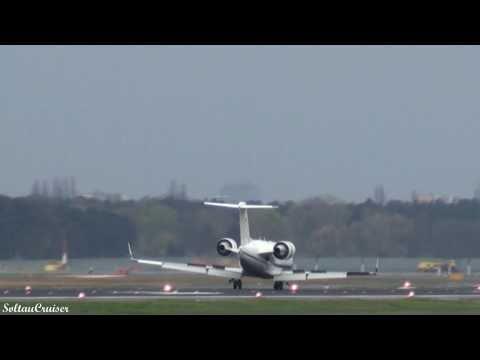 German Air Force Challenger 601 Landing at Berlin Tegel Airport (full HD)