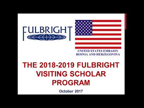 2018-2019 Fulbright Visiting Scholar Program Information Session