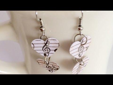Create Simple Music Themed Earrings - DIY  - Guidecentral