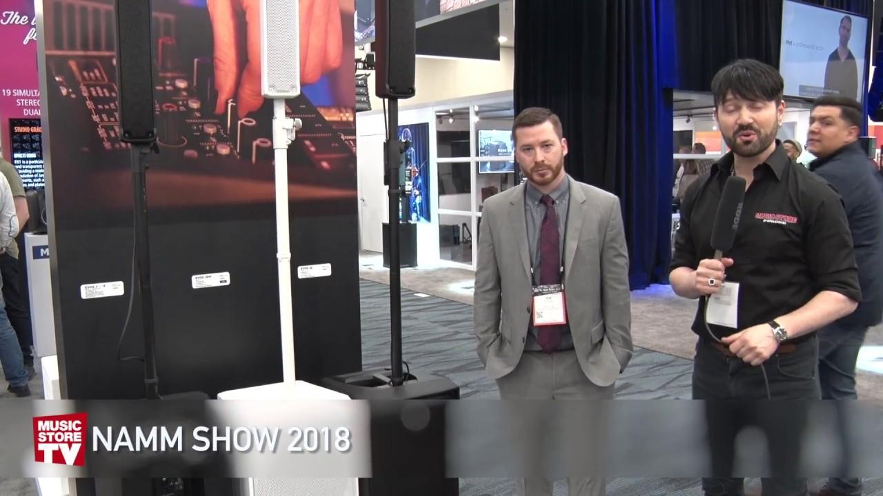 NAMM 2018 RCF Evox J8 and JMIX8 Active two way array speaker (english)