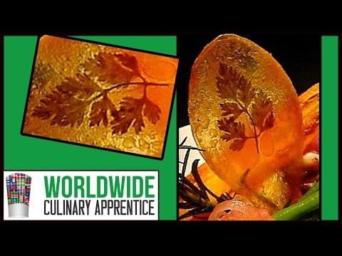 Potato Garnish-Pomme Maxim's-Food Presentation-Food Art-Food Decoration