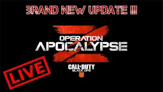 LIVE **NEW UPDATE**- Operation Apocalypse Z -Call Of Duty Black Ops 4 + Giveaway !