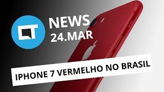 iPhone 7 vermelho chega ao Brasil; Snapdragon 835; loja revela o Galaxy S8 e + [CTNews]