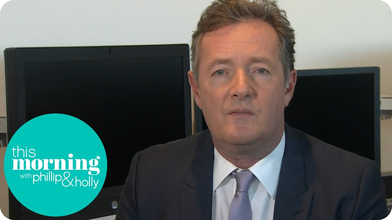 Piers morgan responds to donald trump s sexist comments this morning youtube