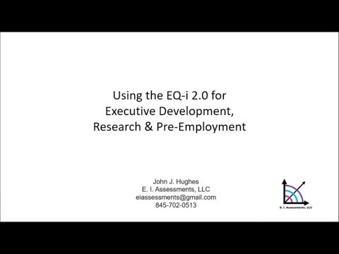 Using The EQ-i 2.0 For Executive Development, Research & Pre-Employment