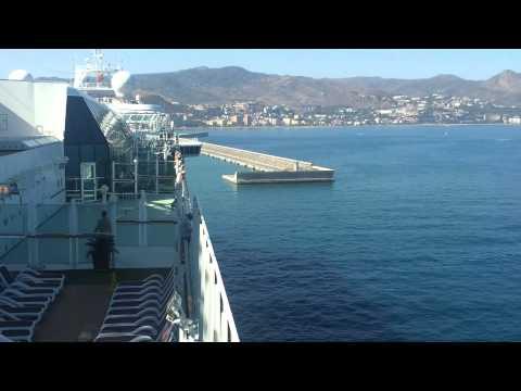 Cruise Ship Leaving The Port Of Malaga