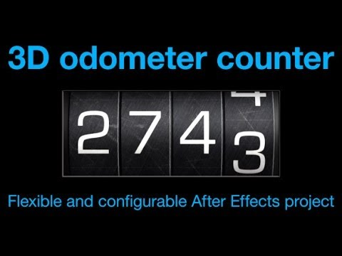 Odometer number counter (After Effects Template)