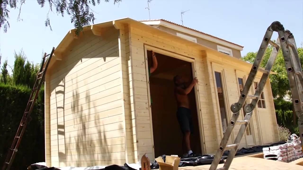 Casas de madera para utilizarlas como garaje grupo tene youtube - Youtube casas de madera ...