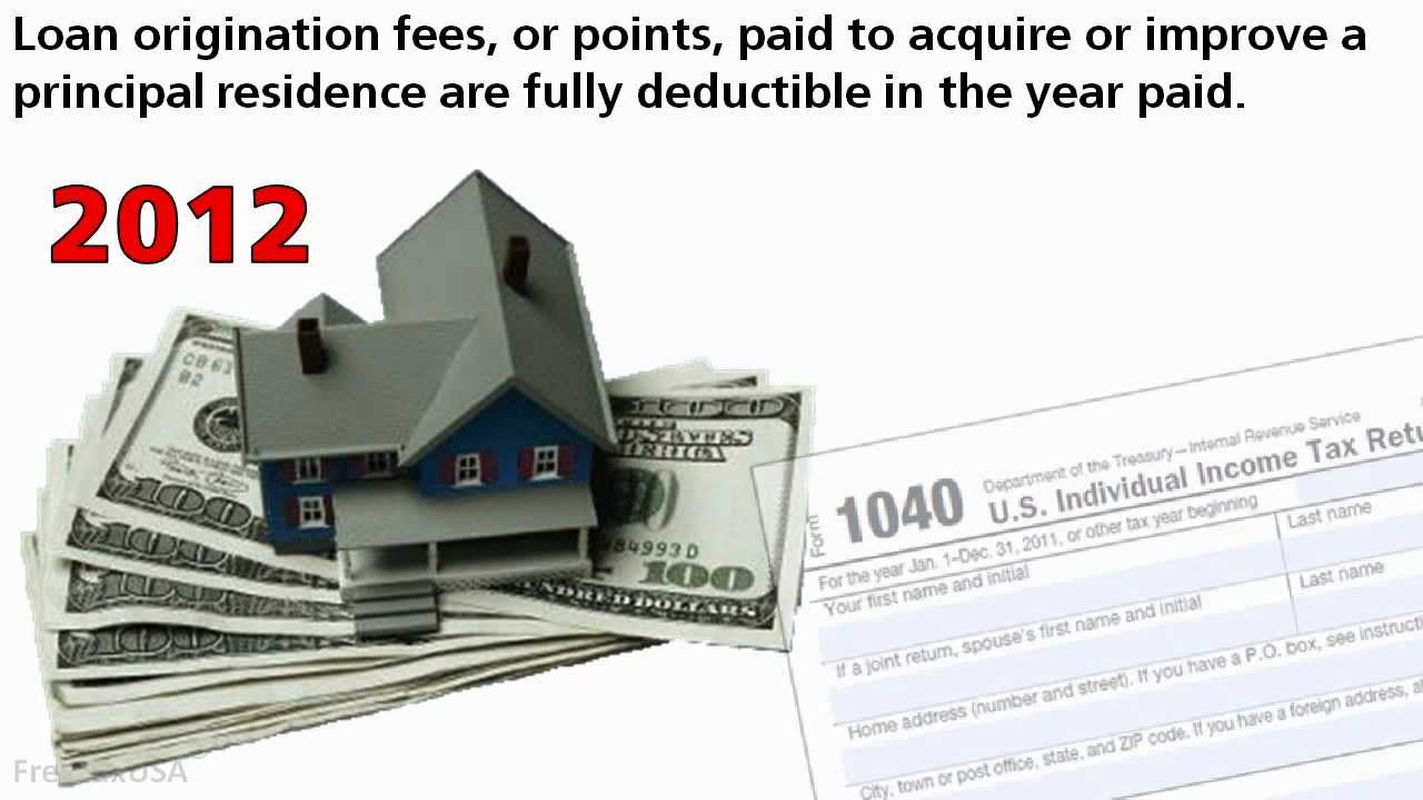 Points or Loan Origination Fees