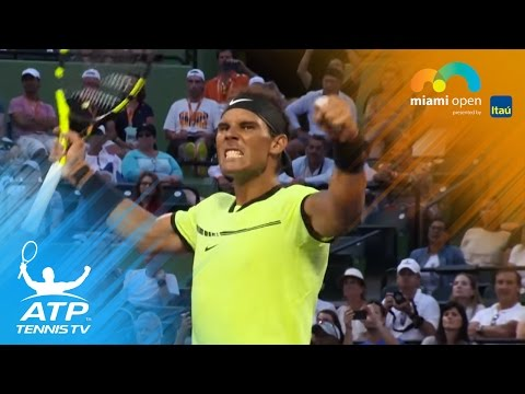 Nadal wins in 1,000th ATP match | Miami Open Highlights 2017 Day 5