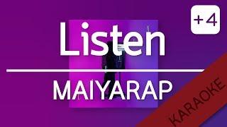 LISTEN - MAIYARAP (Prod. by NINO) | YUPP! คีย์ผู้หญิง +4 [Karaoke] | TanPitch
