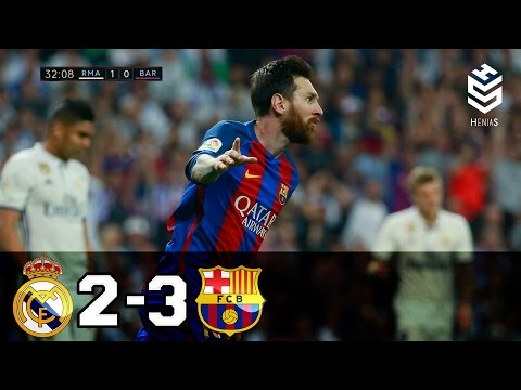Real Madrid vs Barcelona 2-3 ? All Goals and Full Highlights ? English Commentary ? 23-04-2017 HD