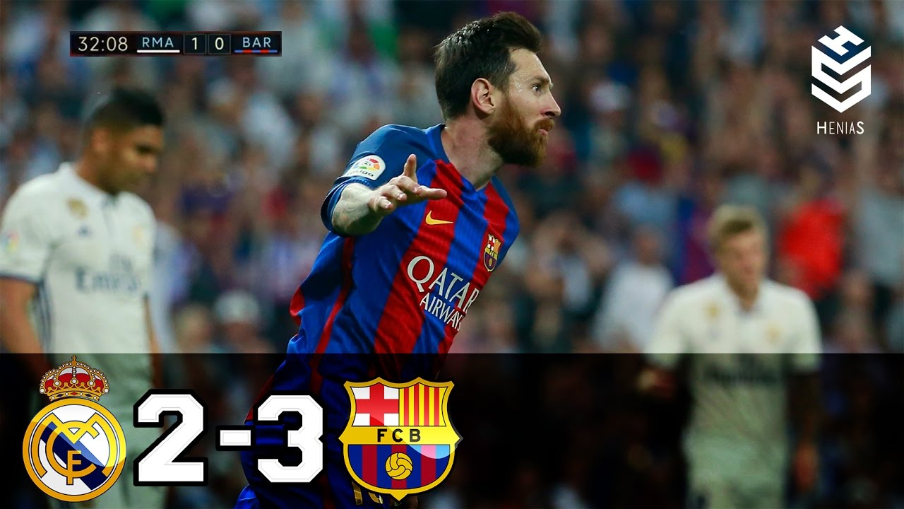 Download Real Madrid vs Barcelona 2-3 ● All Goals and Full Highlights ● English Commentary ● 23-04-2017 HD
