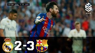 Real Madrid vs Barcelona 2-3 All Goals and Full Highlights English Commentary 23-04-201 ...