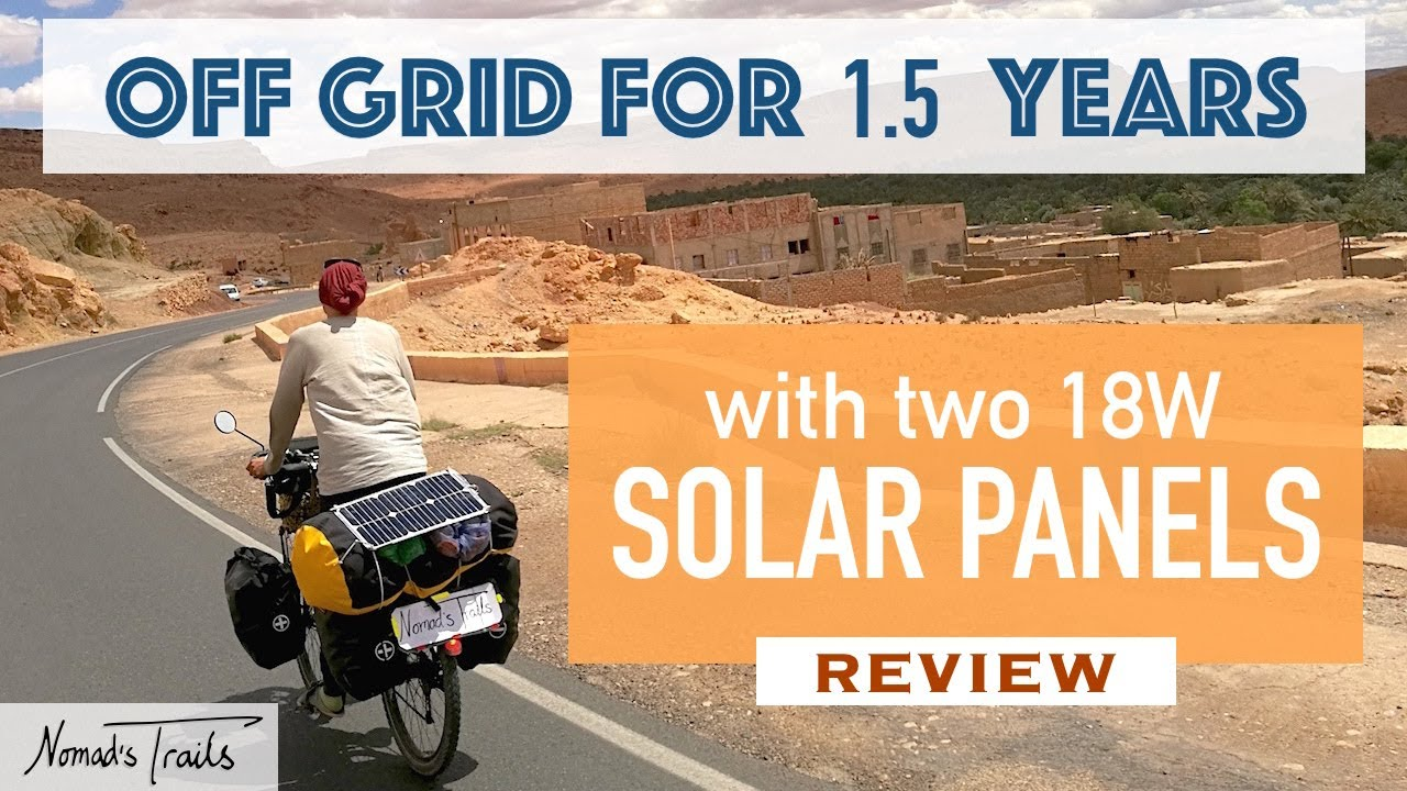 Living OFF GRID on the road for 1.5 years with two tiny Solar Panels – SUNBEAMsystem REVIEW