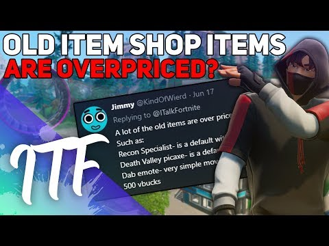 Old Item Shop Items Are OVERPRICED? [Unpopular Opinions] Fortnite Battle Royale)