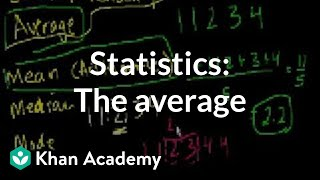 Statistics: The average | Descriptive statistics | Probability and Statistics | Khan Academy thumbnail