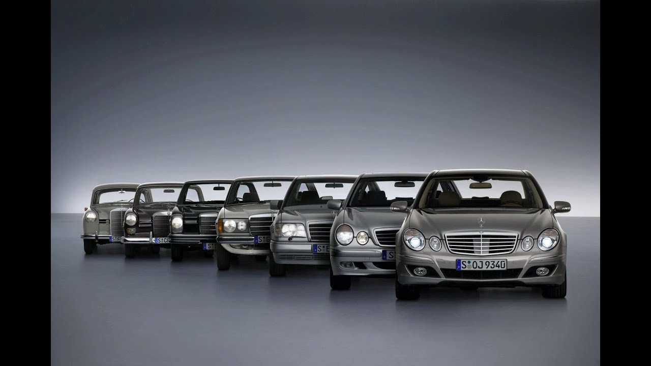 Mercedes benz e class evolution all e classes youtube for Mercedes benz e class models