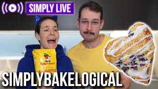Baking gosh darn blueberry scones 🔴LIVE - Simplybakelogical returns