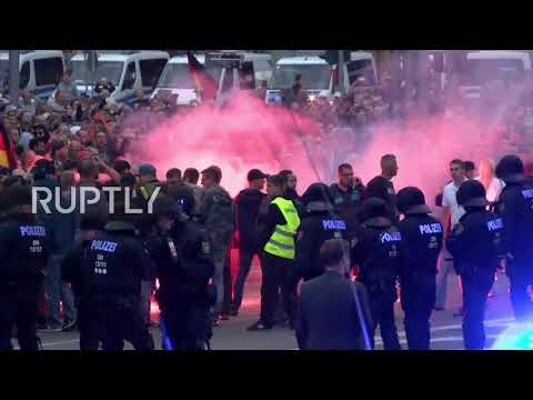 Germany: Bottles fly in Chemnitz as anti-migrant protest turn chaotic