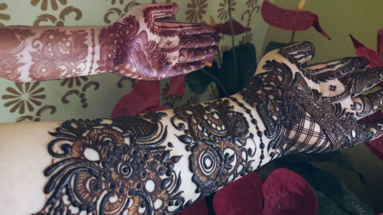 Khaleeji Henna Design 8 Heena Vahid Youtube