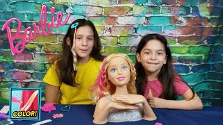 Barbie DELUXE Flip and Reveal Style Head Unboxing Review