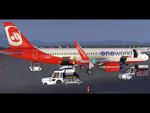FSX   FSCloud    LTAI - Antalya to OTHH - Doha   Air Berlin Airbus A320