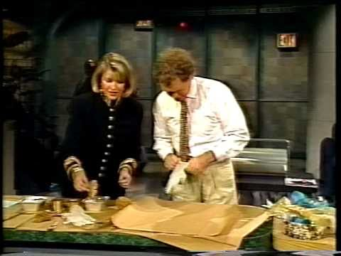 Martha Stewart on David Letterman - Holidays 1989, 1990