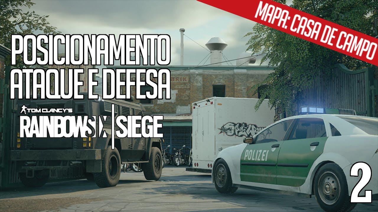 RAINBOW SIX SIEGE - DICAS DE POSICIONAMENTO #2: MAPA CASA DE CAMPO ...