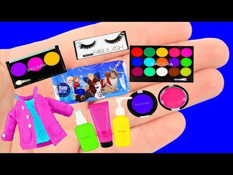 15 Лайфхаков для Барби! Заколки, туфли, макияж, поделки для малыша!  DIY Barbie Hacks