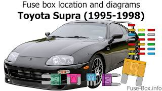 [SCHEMATICS_4CA]  Fuse box location and diagrams: Toyota Supra (1995-1998) - YouTube | 94 Supra Fuse Box Diagram |  | YouTube