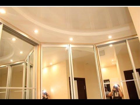 34 Отделка балкона, зеркальный шкаф купе и зеркальный потолок .
