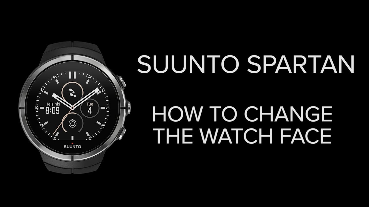 Suunto Spartan - How to change the watch face