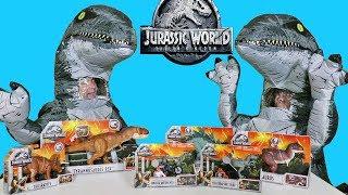 "Jurassic World Dinosaur Toy Challenge - ""Blue"" Vs ""Blue"" !     Toy Review    Konas2002"
