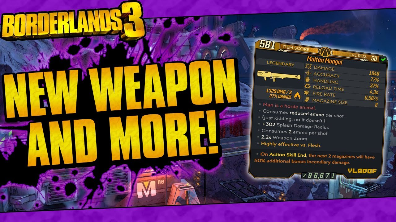 Borderlands 3 | New Weapon And More! (Hotfix Notes May 14th, 2020) thumbnail