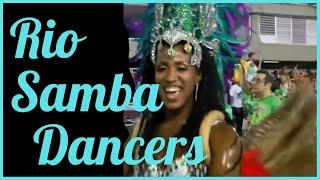 RIO CARNIVAL PARADE 2014:  SAMBA DANCING PROFESSIONAL PASSISTAS AT RIO SAMBADROME
